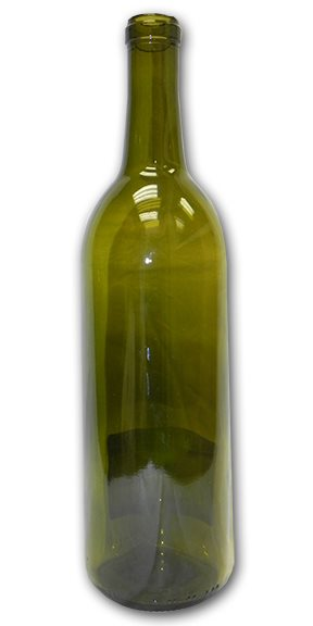 Bottles, Bordeaux, Antique Green, 750ML Transition, Cork Finish