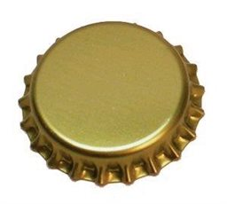 Crown Caps for Beer, Gold, Bag of 100