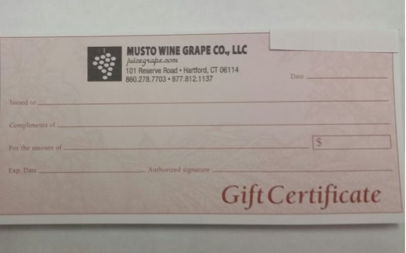 Printable Gift Certificate $25, $50, $100