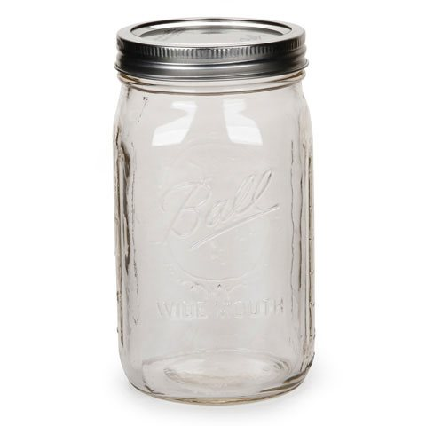 Ball Mason Jars, 32oz, Wide Mouth cs/12