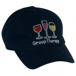 Hat, Rhinestone Group Therapy, Blk