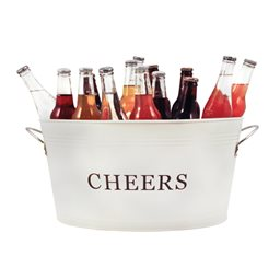 Country Home: Galvanized Cheer Tub