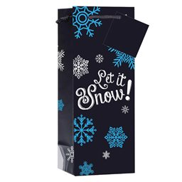 Wine Gift Bag, Let It Snow