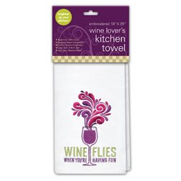 Kitchen Towel, Wine Flies