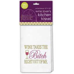 Kitchen Towel, Wine Takes the Bitch