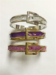 Bracelet, Thin Buckle in Enamel (Assorted Colors)