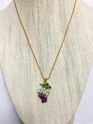 Necklace, Grape Cluster AB Stones