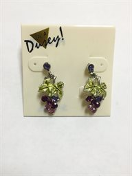 Earring, Grape Cluster Dangle