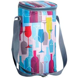 Insulated Bag - Colored Wine Bottles