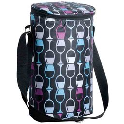 Insulated Bag - Stacked Wine Glasses